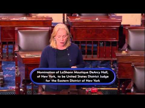Senator Gillibrand Urges Confirmation of LaShann DeArcy Hall to Federal District Court