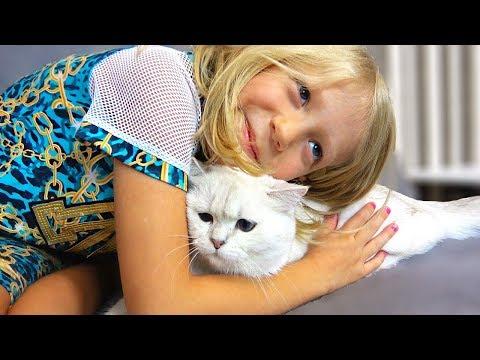 Что Рассказала МИЛАНА о Нашей КОШКЕ? Маленькая Кошечка Элька и Большая Какая она Была?