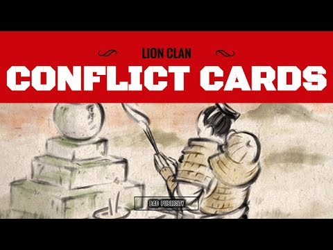 [Legend of the 5 Rings] Lion Conflict Cards Core Set Review // Bad Publicity
