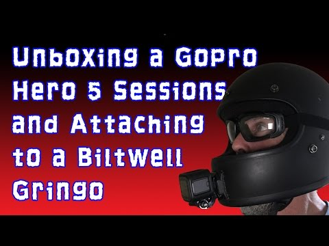 Unboxing A Gopro Hero5 Sessions  U0026 Mounting To A Biltwell Gringo Motorcycle Helmet