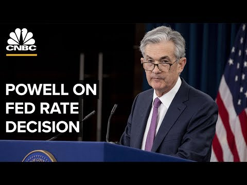 Fed Chair Jerome Powell speaks to media following interest rate decision – 06/19/2019