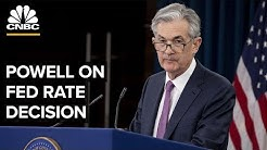Fed Chair Jerome Powell speaks to media following interest rate decision - 06/19/2019