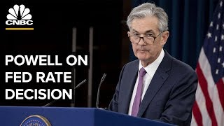 Fed Chair Jerome Powell speaks to media following interest rate decision – 06/19/2019 thumbnail