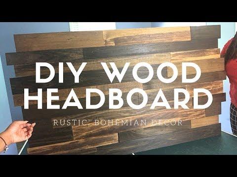 DIY Inexpensive Rustic Headboard | Beanie Jean