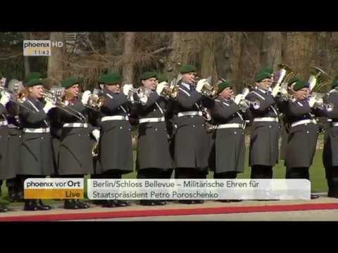 Ukrainian president Petro Poroshenko visits Germany