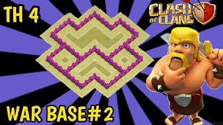 Clash Of Clans - Town Hall 4 War Base (COC TH 4) | War Base Layout Srategy