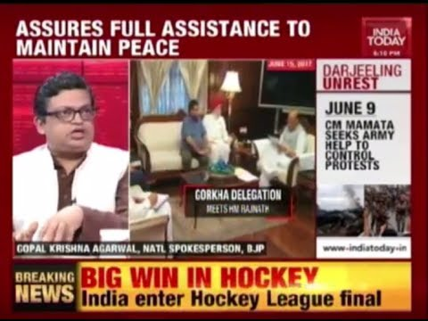 Debate on India Today Channel on Gorkhaland Issue and Darjeeling Unrest