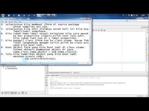 Membuat Aplikasi Java Gui Sederhana