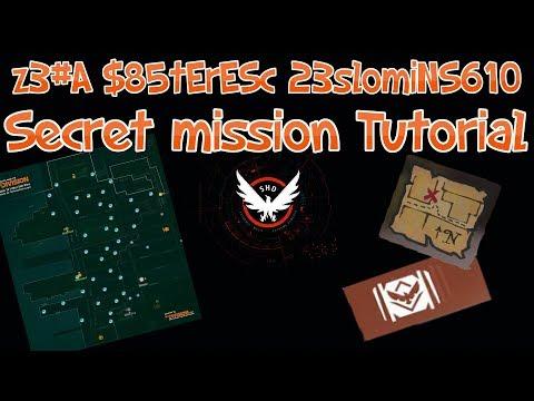 The Division 1.8 - Secret Mission - z3#A $85tErESc 23slomiNS610 Commendation Tutorial