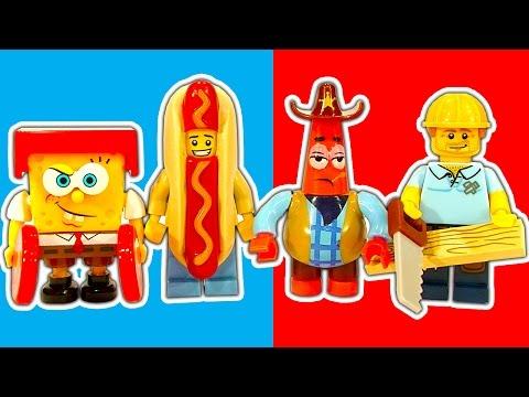 60 LEGO Minifigure Series 13 Surprise Unboxing Kids React SpongeBob MEGA BLOKS