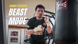 PACQUIAO starts training camp in BEAST MODE! 😤👊🏼 #PacquiaoSpence