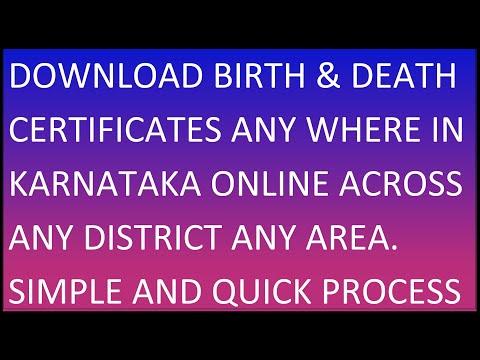 Get|Download Birth|Death Certificate Online In Karnataka