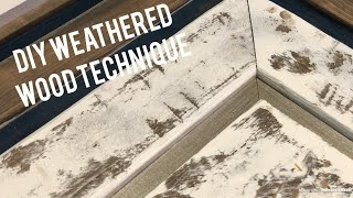 Easy distressed paint technique- Faux Weathered barnwood Tutorial