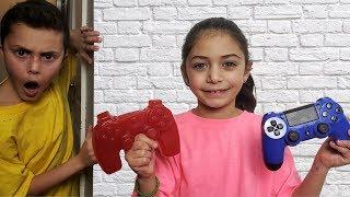 Gummy Food vs Real  switch up - HZHtube kids fun