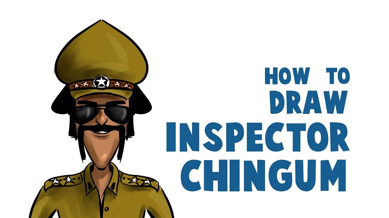How To Draw Chingam Sir How To Draw Motu Patlu Chingam How To