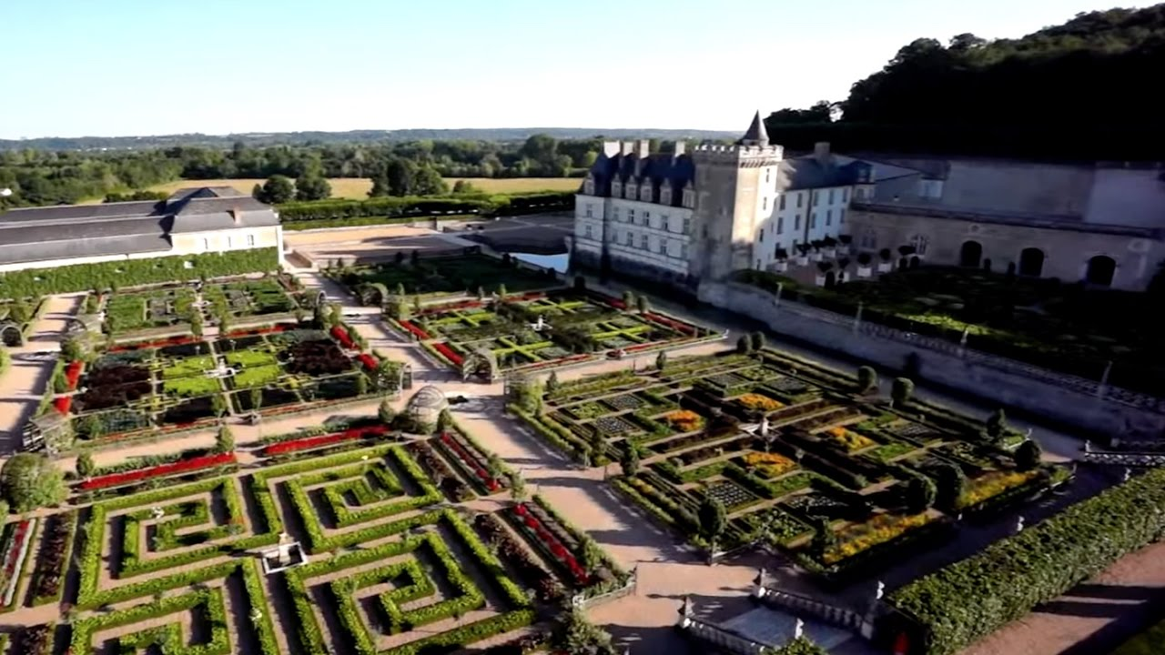 Ch teau de villandry et ses jardins france 2 youtube for Jardin villandry