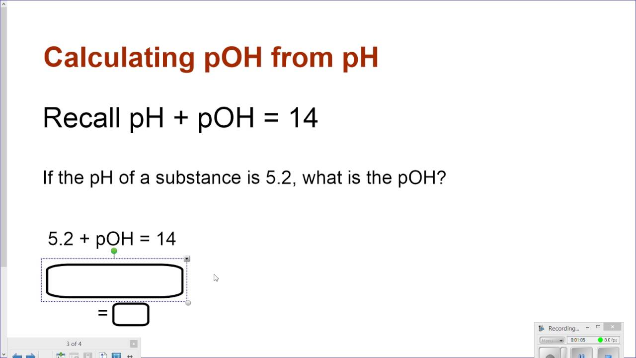 calculating pOH from pH YouTube – Ph Poh Worksheet