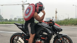 Captain Vietnam học ôm cua || Captain America takes the tram and results