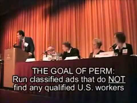Secret Video Immigration (lawyers teach companies how to steal jobs from USA workers)