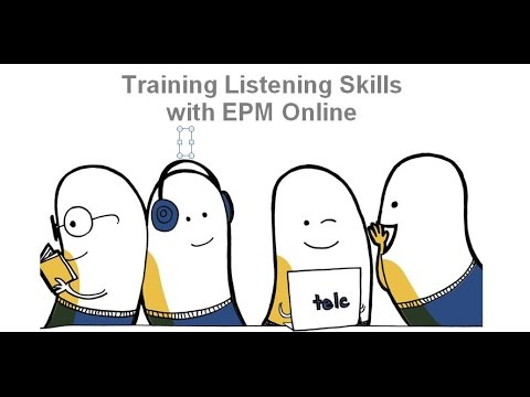 Training Listening Skills with English Practice Material Online