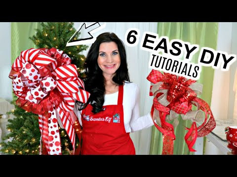 "🎄6 DIY DOLLAR TREE & MICHAEL'S EASY CHRISTMAS BOW CRAFTS🎄""OLIVIA BOW"" I love Christmas ep32"