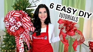 🎄6 DIY DOLLAR TREE & MICHAEL'S EASY CHRISTMAS BOW CRAFTS🎄