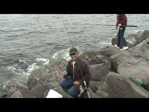 Barview jetty with longliner boat jetty fishing youtube for Jetty fishing oregon