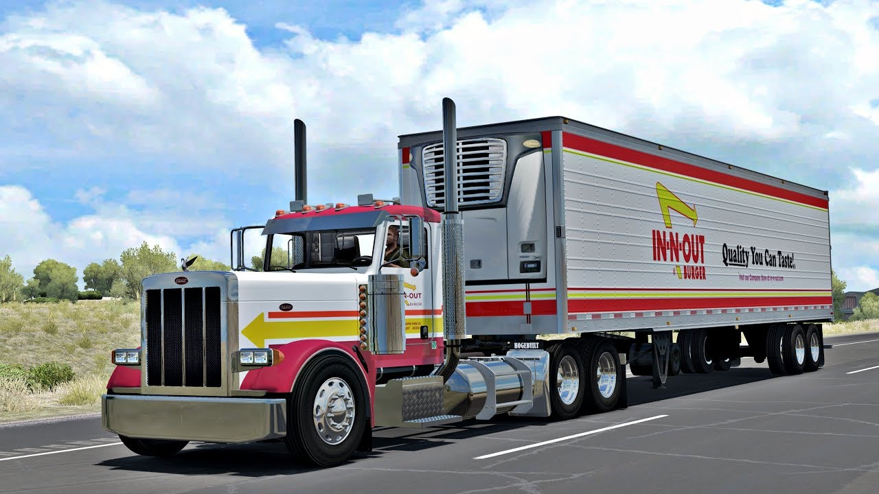 Ats Peterbilt 379 In N Out Combo Youtube