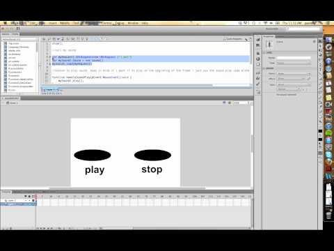 Flash CS6: Adding Sound AS3