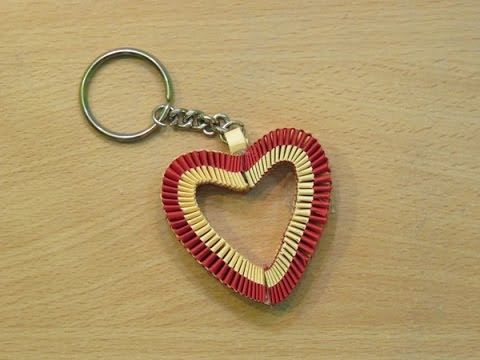 How To Make A Paper Heart Keychain Valentine S Day Special Gifts