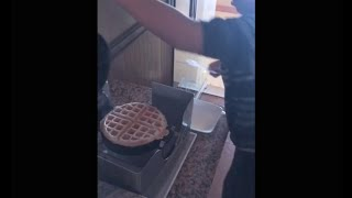 Nathan From Chicago Shows Me How To Make American Waffles!
