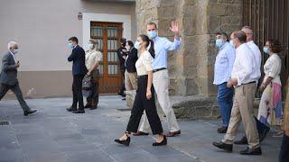 Los Reyes visitan la Catedral de Jaca