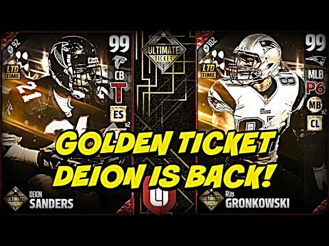 Madden 17 Ultimate Ticket Reveal #2 99 Deion Sanders! | Madden 17 Golden Tickets Update!