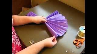Unfurling your tissue paper Pom Pom
