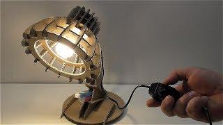как сделать настольную лампу из картона Настольная лампа из картона