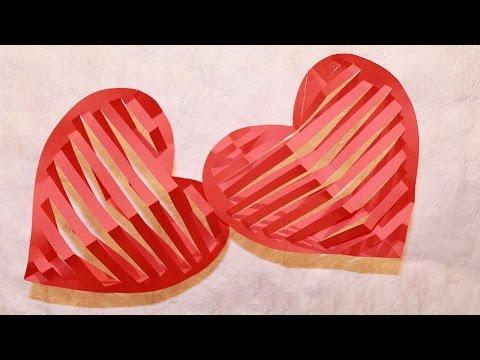 ВАЛЕНТИНКИ 3D из бумаги Своими Руками/ Valentines Day Crafts: 3D Heart
