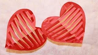 ВАЛЕНТИНКИ 3D из бумаги Своими Руками/ Valentine's Day Crafts: 3D Heart