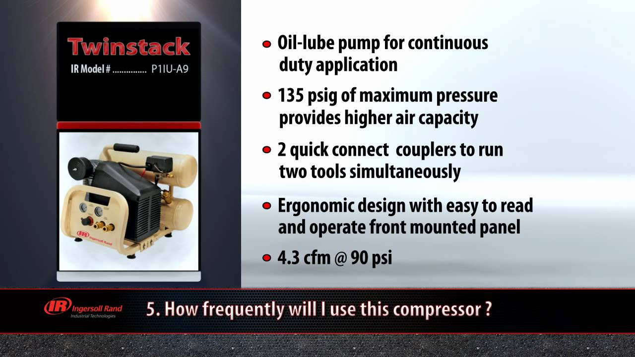 5 Steps To Selecting An Ingersoll Rand Air Compressor Youtube Inch Check Valve Spa Also Ground Fault Circuit Interrupter Gfci