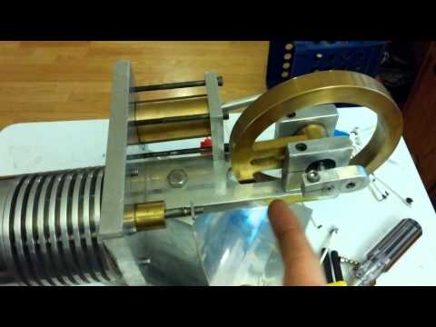 free displacement Stirling engine