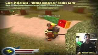 Code Make Win - Demon Dungeons Roblox Game - Sheffield Coding