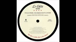 Phyllis Hyman - You Know How To Love Me  [ dimitri from paris disco mix ]