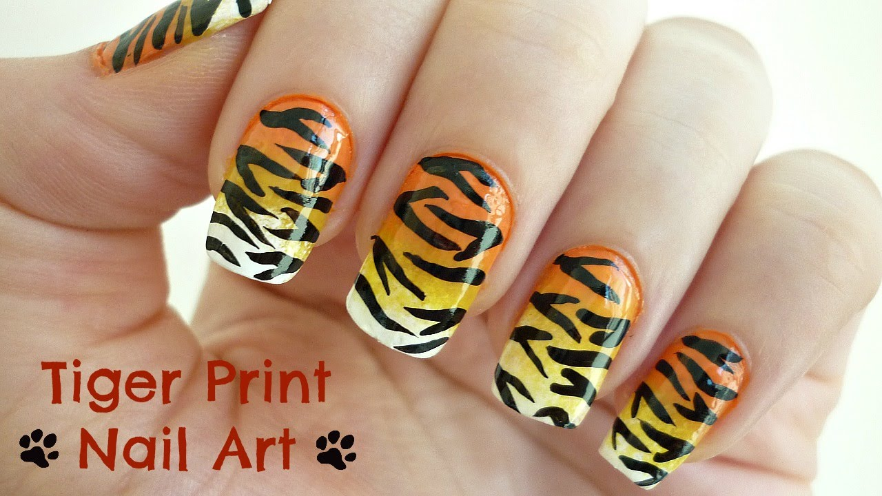 Tiger Print Nail Art Youtube