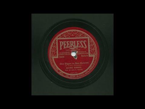 Beatriz Eugenia - Que Digan Lo Que Quieran - Peerless 2666