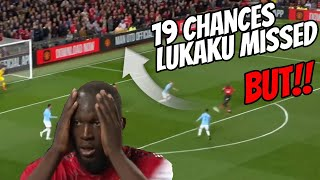 Chances Lukaku missed in Man utd