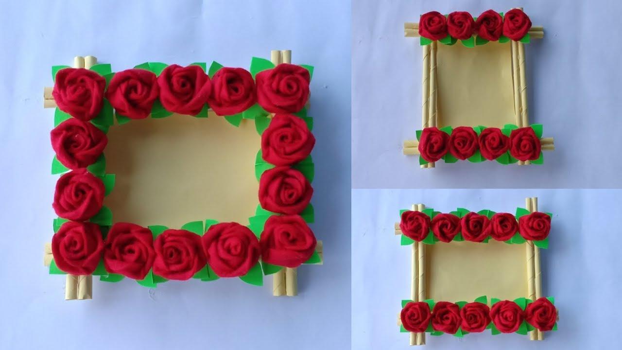 Diy Membuat Bingkai Foto Dari Kain Flanel Hiasan Dinding Photo Frame Youtube Kreasi membuat bingkai foto
