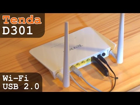 Tenda D301 Modem ADSL 2+ Router Wi-Fi N300 with USB 2.0 | Unboxing Configuration Settings Test