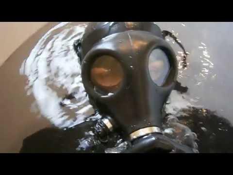 Israeli gas mask under water