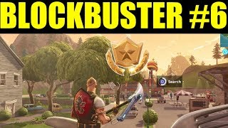 Secret Week 6 Battlestar location! (Blockbuster #6) Fortnite Battle Royale Week 6 Challenges