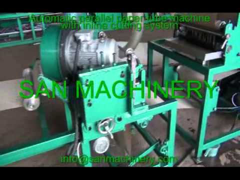 Automatic parallel paper tube making machine with inline cutting system  1
