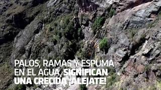 Te recomendamos tener especial cuidado con las crecidas de ríos. #CórdobaUnAmor